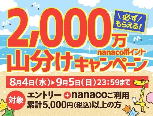 nanaco 夏の大感謝祭