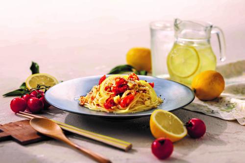 真鱈と瀬戸内レモンのペペロンチーノ画像