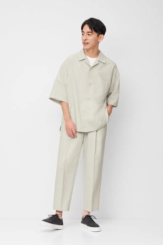 トドライワイドフィットオープンカラーシャツ